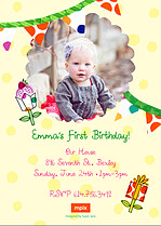 Cupcake Extravaganza Birthday Party Invitations Flat Cards - Back