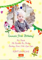 Cupcake Extravaganza Birthday Party Invitations Flat Cards - Back