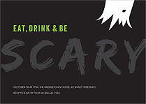 Fright Night Halloween Flat Cards - Front