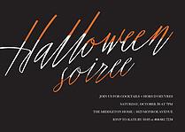 Halloween Soiree Halloween Flat Cards - Front