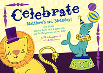 Ringmasters Event Birthday Party Invitations Flat Cards - Front