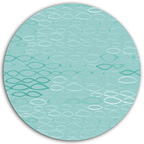 Merry Waves Aqua Circle - Back