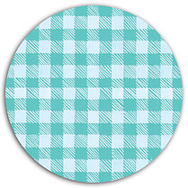 Plaid Pictage Aqua Circle - Back