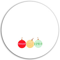 Pretty Ornaments Circle - Back