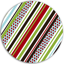 Stripes and Polka Circle - Back