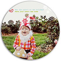 Believe Snowflakes Circle - Back