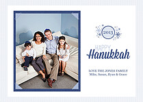 Hanukkah Wishes Blue - Front