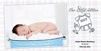 Littlest Addition Boy Birth Announcements Photo Cards - Horizontal