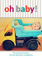 Oh baby Birth Announcements Flat Cards - Front