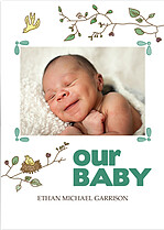 Our Baby Birth Announcements Flat Cards - Front