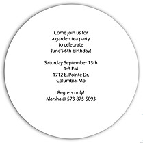 Invited Blue Circle Birthday Party Invitations Flat Cards - Back
