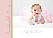Celebrate in Pink Birthday Party Invitations Cards - Front