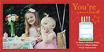 You're Invited Cake Birthday Party Invitations Photo Cards - Horizontal