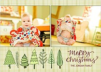 Family of Trees Natural Christmas Cards - Front