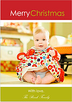 Christmas Large Photo Christmas Cards - Front