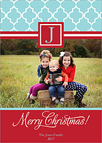 Contempo Pattern Christmas Christmas Cards - Front