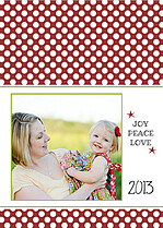 Polka Joy Crimson Christmas Cards - Back