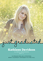 Just Graduated Graduation Cards - Front