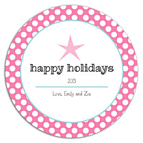 Polka Joy Pink Circle - Back