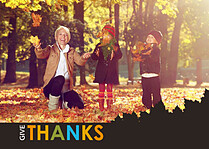Thanks Leaves - Front