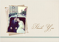 Neutral Script Thank You Cards - Front