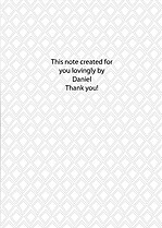 Gray Banner Thank You Cards - Back
