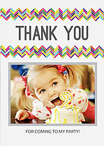 Bright Zig Zags Thank You Cards - Front