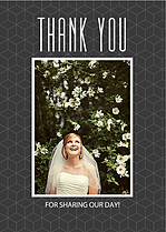 Mod Cubes Thank You Cards - Front
