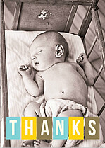 Bright Thanks Thank You Cards - Front