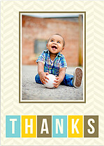 Bright Thanks Border Thank You Cards - Front
