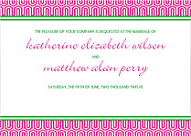 Preppy Mosaic Invitation Wedding Invites Flat Cards - Front