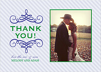Violet Flourish Thanks Thank You Flat Cards - Front