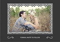 Timeless Date Save the Date Flat Cards - Back