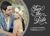 Timeless Date Save the Date Flat Cards - Front