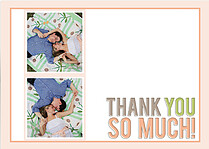Peachy Keen Thanks Thank You Flat Cards - Front