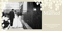 Just Married Contempo Thank You Photo Cards - Horizontal