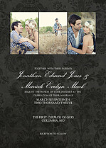 Black Damask Invite Wedding Invites Cards - Front