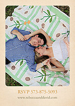 Lovebirds Invitation  Wedding Invites Flat Cards - Back