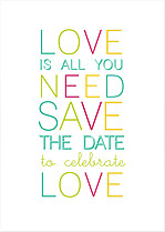 Color Pop Date  Save the Date Flat Cards - Front