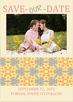 Kaleidoscope Date Save the Date Flat Cards - Front