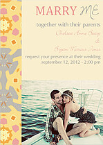 Kaleidoscope Invitation Wedding Invites Flat Cards - Front