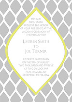 Pretty Print Invitation Wedding Invites Flat Cards - Front