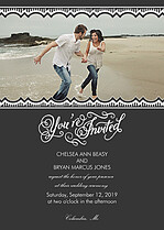 Timeless Invitation Wedding Invites Flat Cards - Front