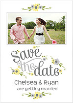 Spring Blooms Date Save the Date Flat Cards - Front