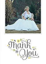 Spring Blooms Thanks Thank You Flat Cards - Front