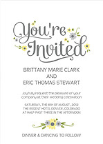 Spring Blooms Invitation Wedding Invites Flat Cards - Front