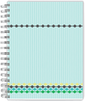 1-Beaded Tracks Day Planner - Back