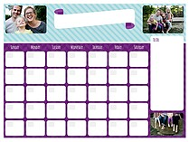 Cool and Collected Dry Erase Calendars Dry Erase Calendar - Front
