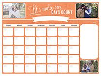Make Em Count Dry Erase Calendars Dry Erase Calendar - Front