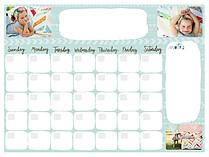 Arrows Aqua Dry Erase Calendars Dry Erase Calendar - Front